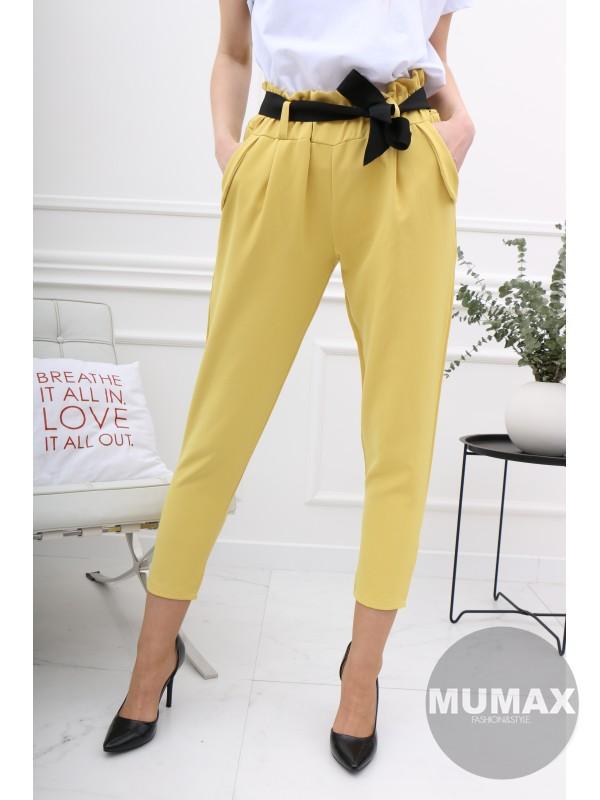 Dámske žlté nohavice