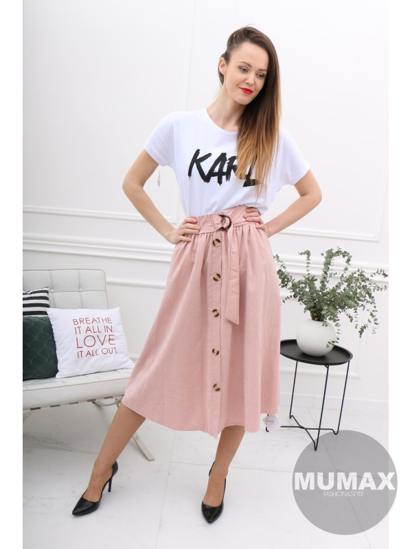 Dámska svetloružová sukňa