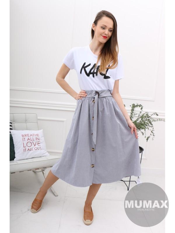 Dámska svetlosivá sukňa