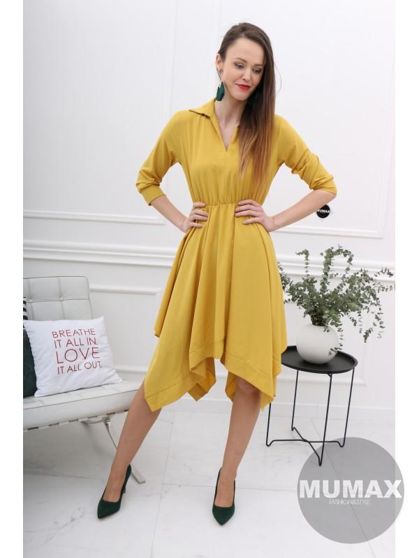 495741543059 Dámske žlté šaty