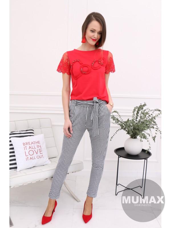 Červene tričko COOL 3D