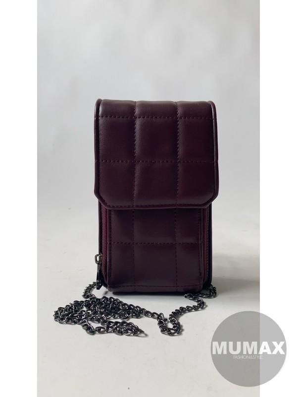 Kabelka-peňaženka bordó