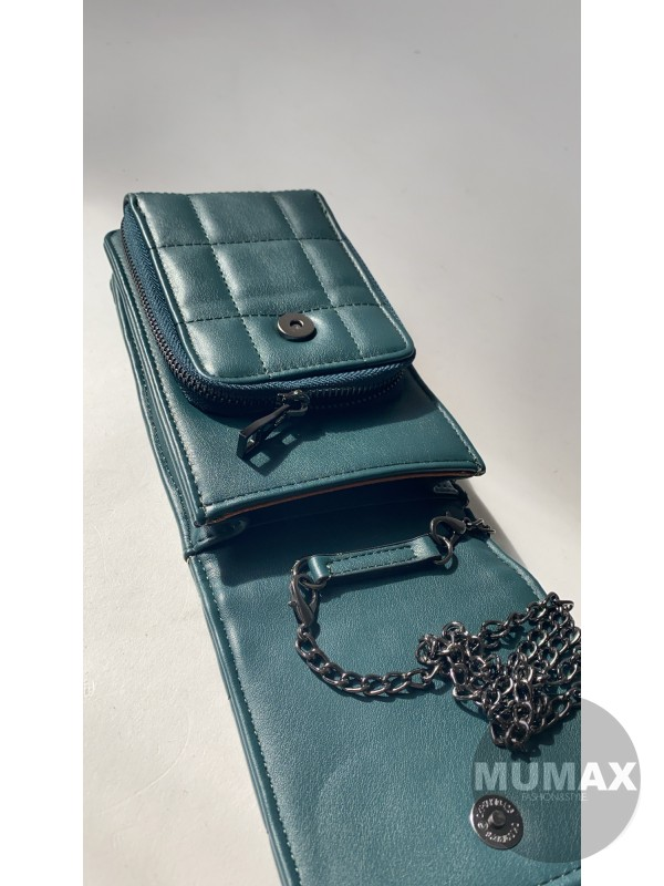 Kabelka -peňaženka petrolej