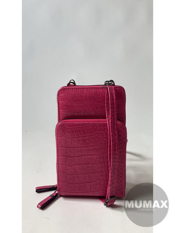 Kabelka-peňaženka fuchsia