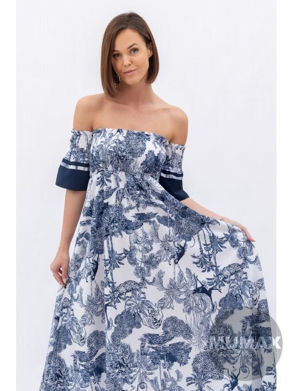 Maxi šaty -modré