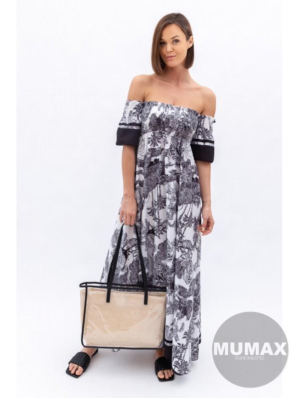 Maxi šaty -čierne