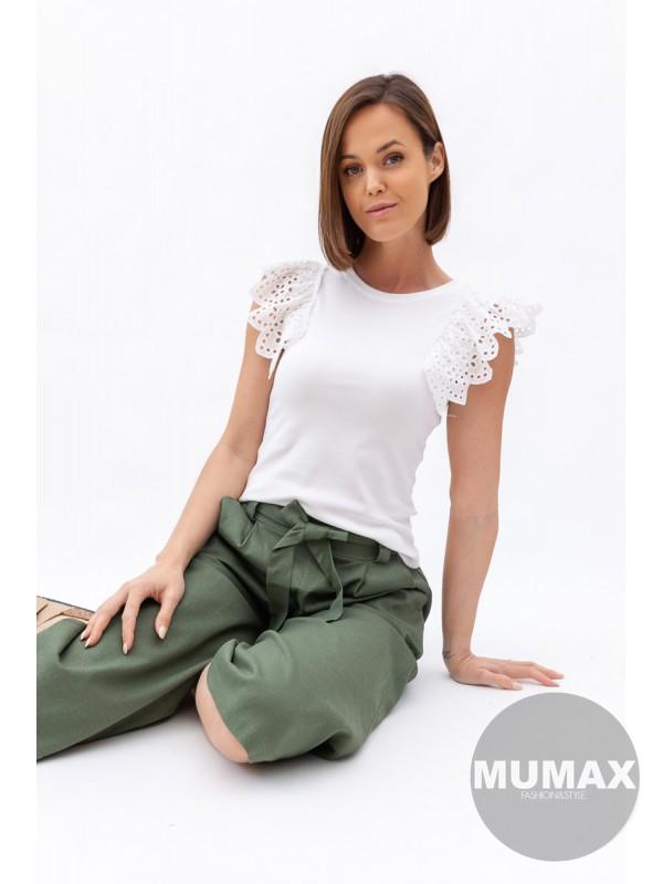 Bavlnéné tričko s madeira rukávmi
