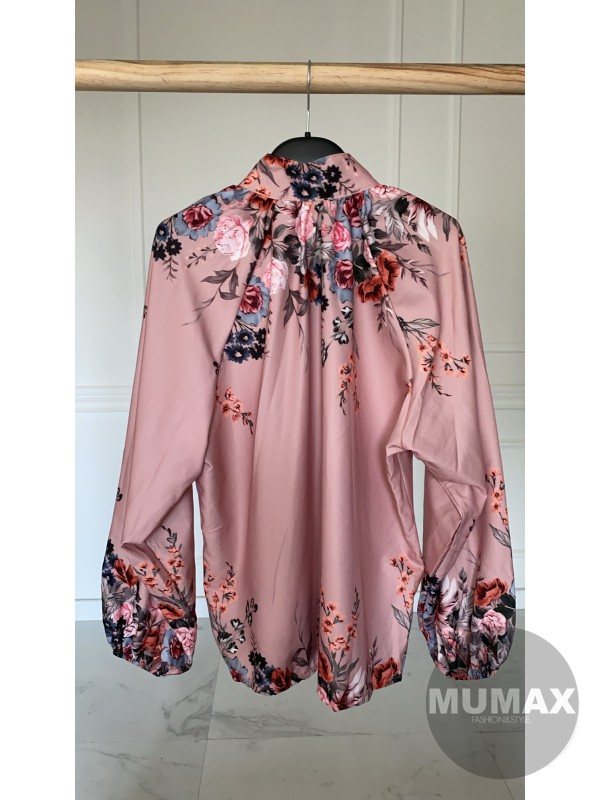 Kvetovaná blúzka pink