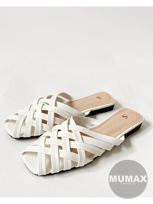 Topánky MULE biele