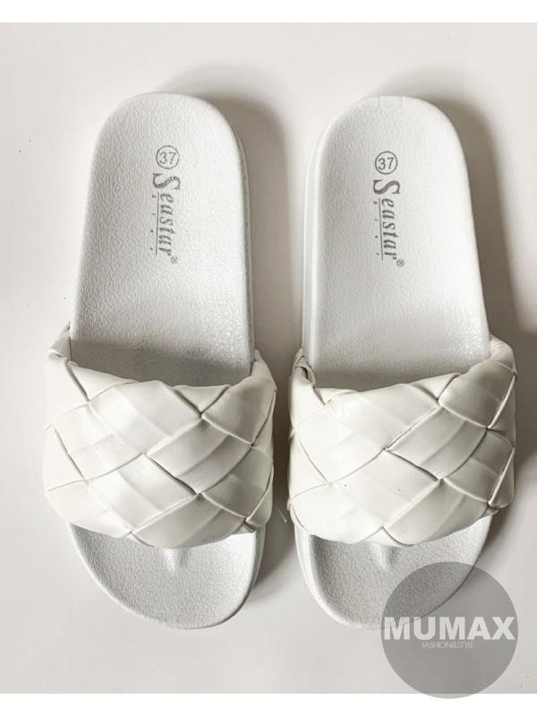 Šľapky biele