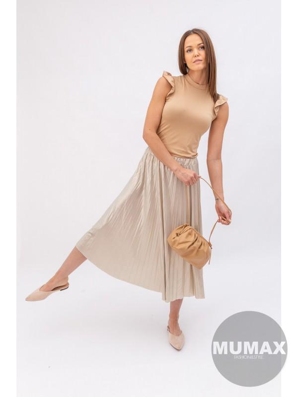 Plisovaná sukňa Gold