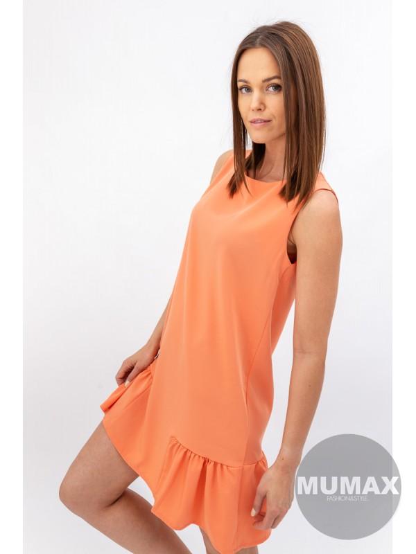 Jednoduché Šaty oranžové