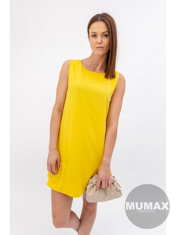 Jednoduche šaty žlté