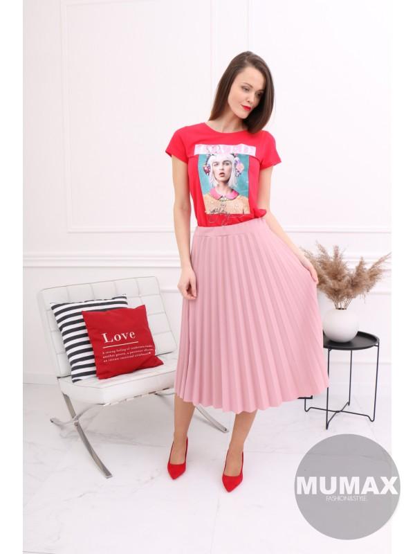 Červené tričko s 3D potlačou