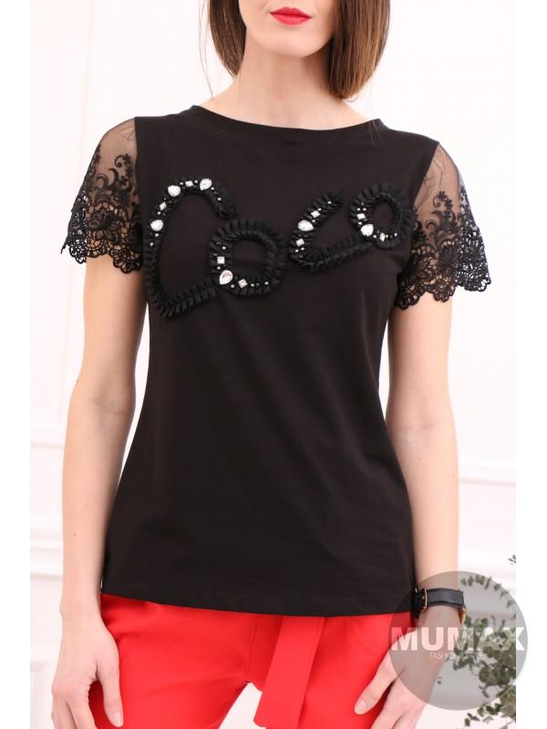Čierne tričko COOL 3D