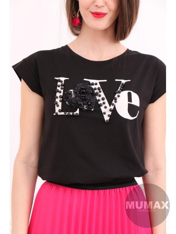 Čierne tričko LOVE