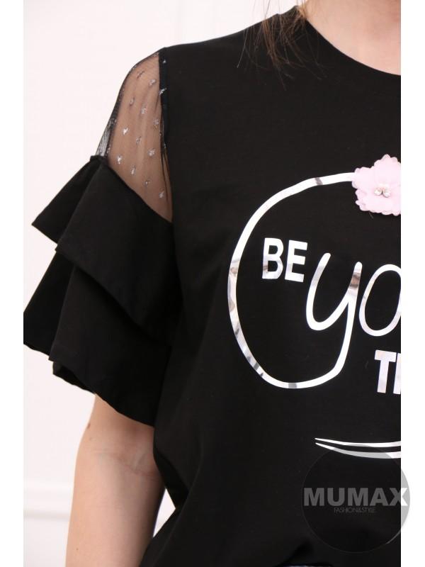 Čierne tričko BEyouTIFUL