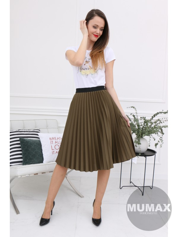 Zelená plisovaná suknička
