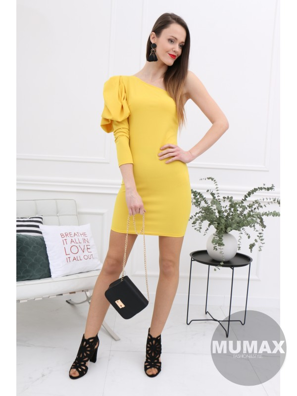 3cd952cf2a5c Dámske šaty žlté
