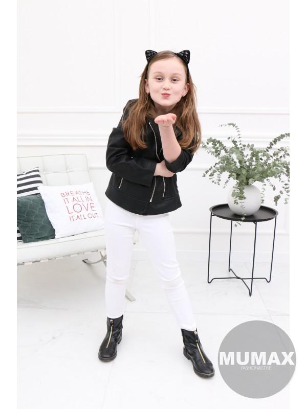 Dievčenská čierna koženka