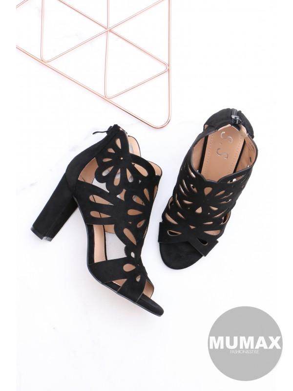 Dámske čierne sandály