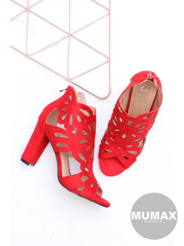 Dámske červené sandály