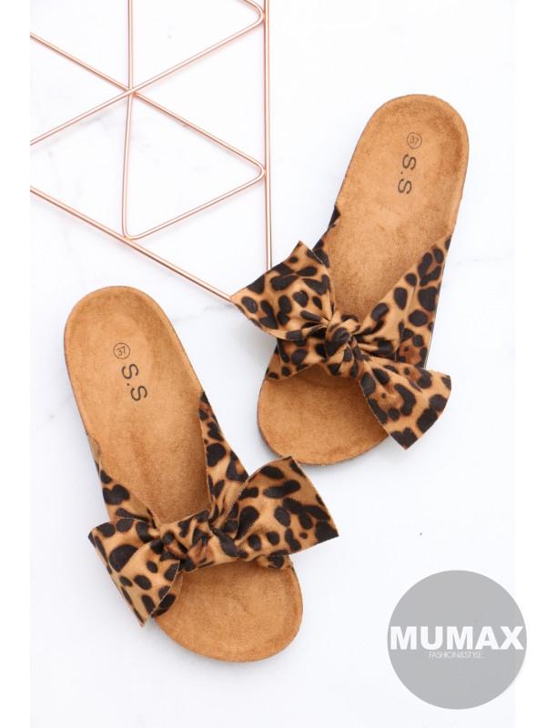 Dámske šľapky leopard