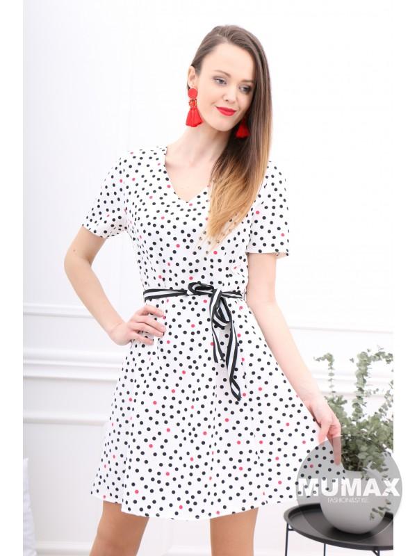 Dámske bodkované šaty