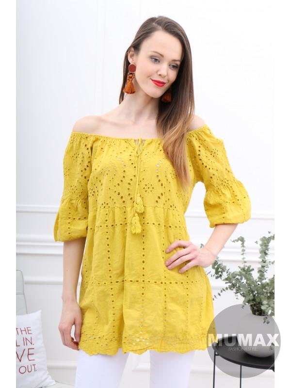 Dámska tunika žltá