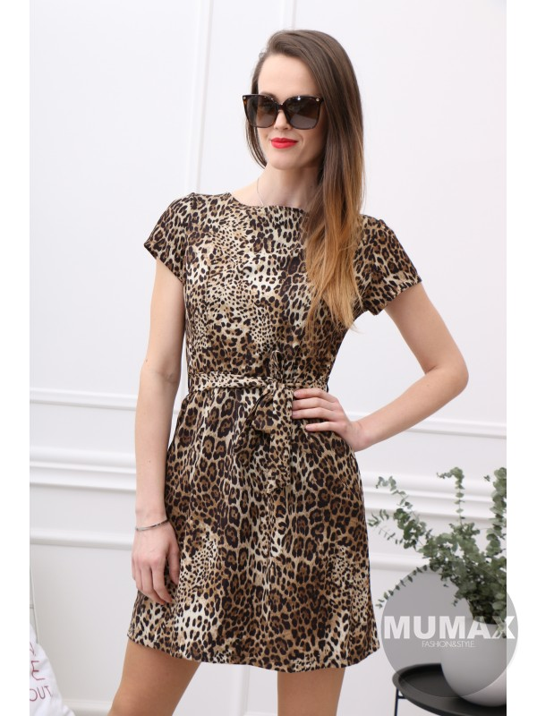 Dámske šaty leopardí vzor