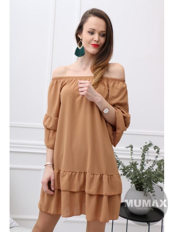 Dámske šaty hnedé