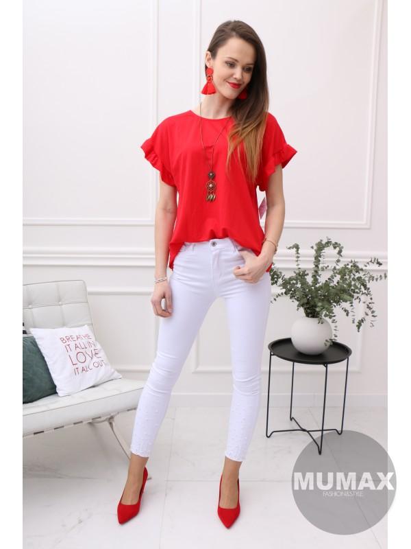 Dámske červené tričko