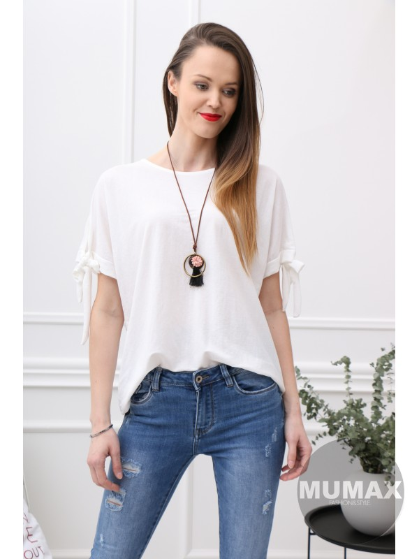 Biele tričko s viazaním