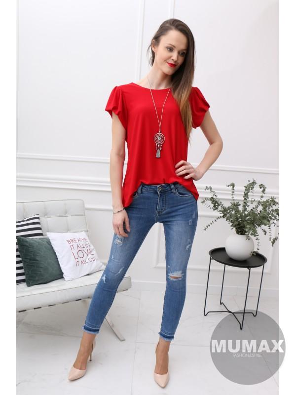 Elegantné červené tričko