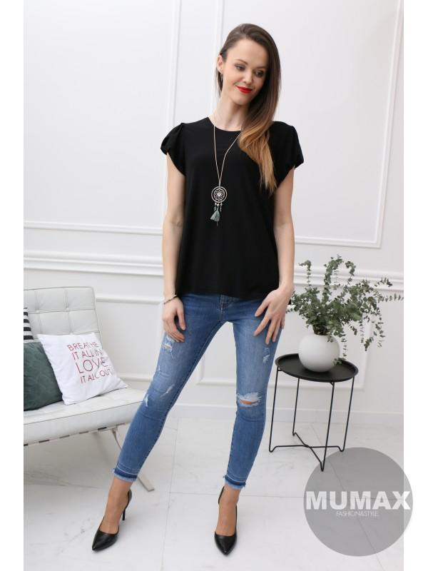 Elegantné čierne tričko
