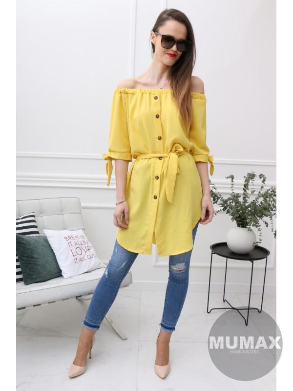 Dámska žltá tunika