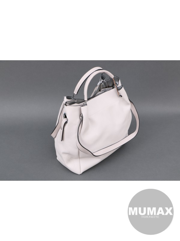 Béžova kabelka s pevnou ručkou