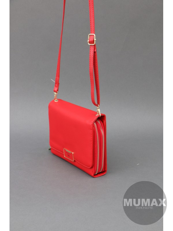 Crossbody/peňaženka červená