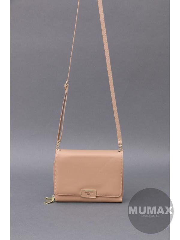 Crossbody/peňaženka hnedá