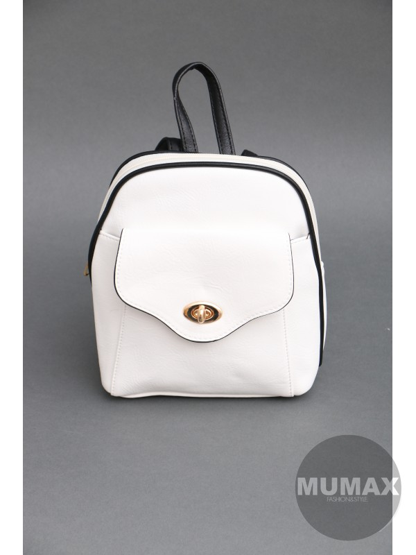Módny ruksačik biely
