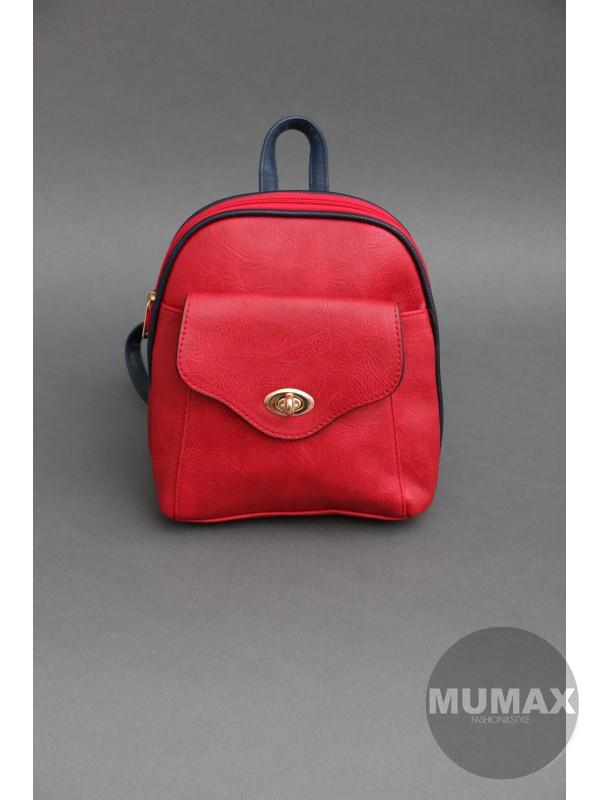 Módny ruksačik červený