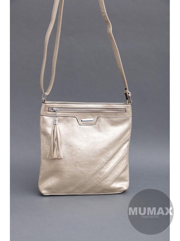 Dámska zlatá kabelka