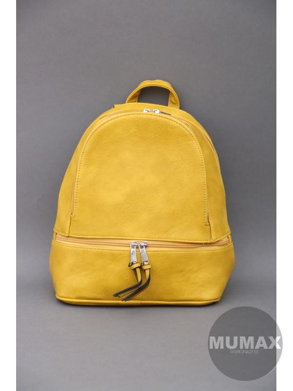 Trendy ruksak horčicový