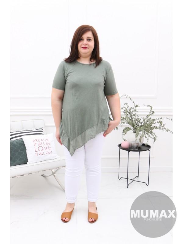 Zelené asymetrické tričko