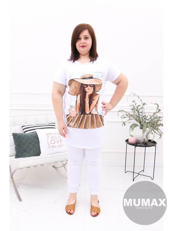 Bielá tunika/šaty