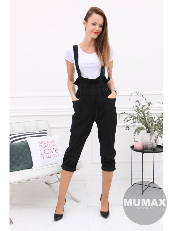 Čierný dlhý nohavicový komplet s tričkom