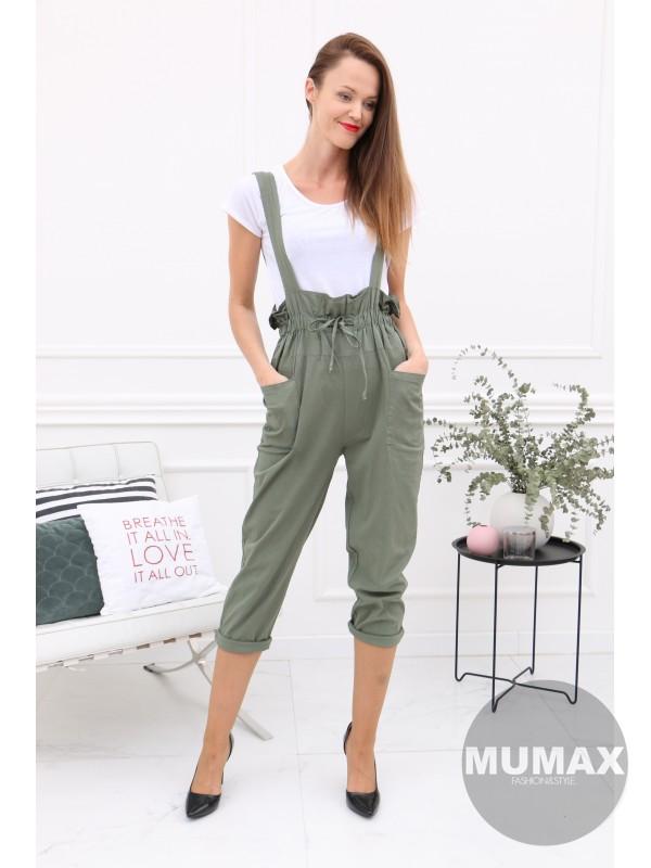 Zelený dlhý nohavicový komplet s tričkom