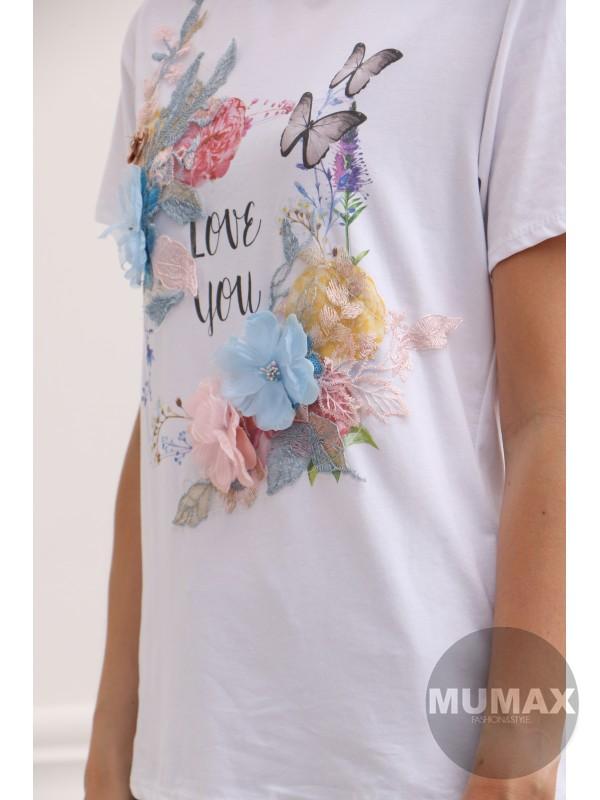 Biele tričko LOVE YOU