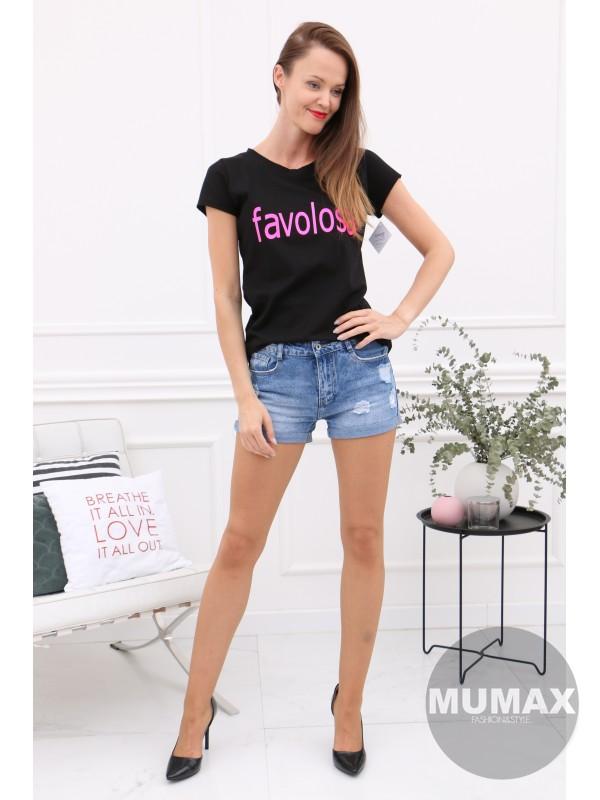 Čierne tričko favolosa