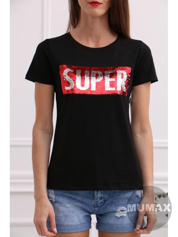 Čierne tričko SUPER